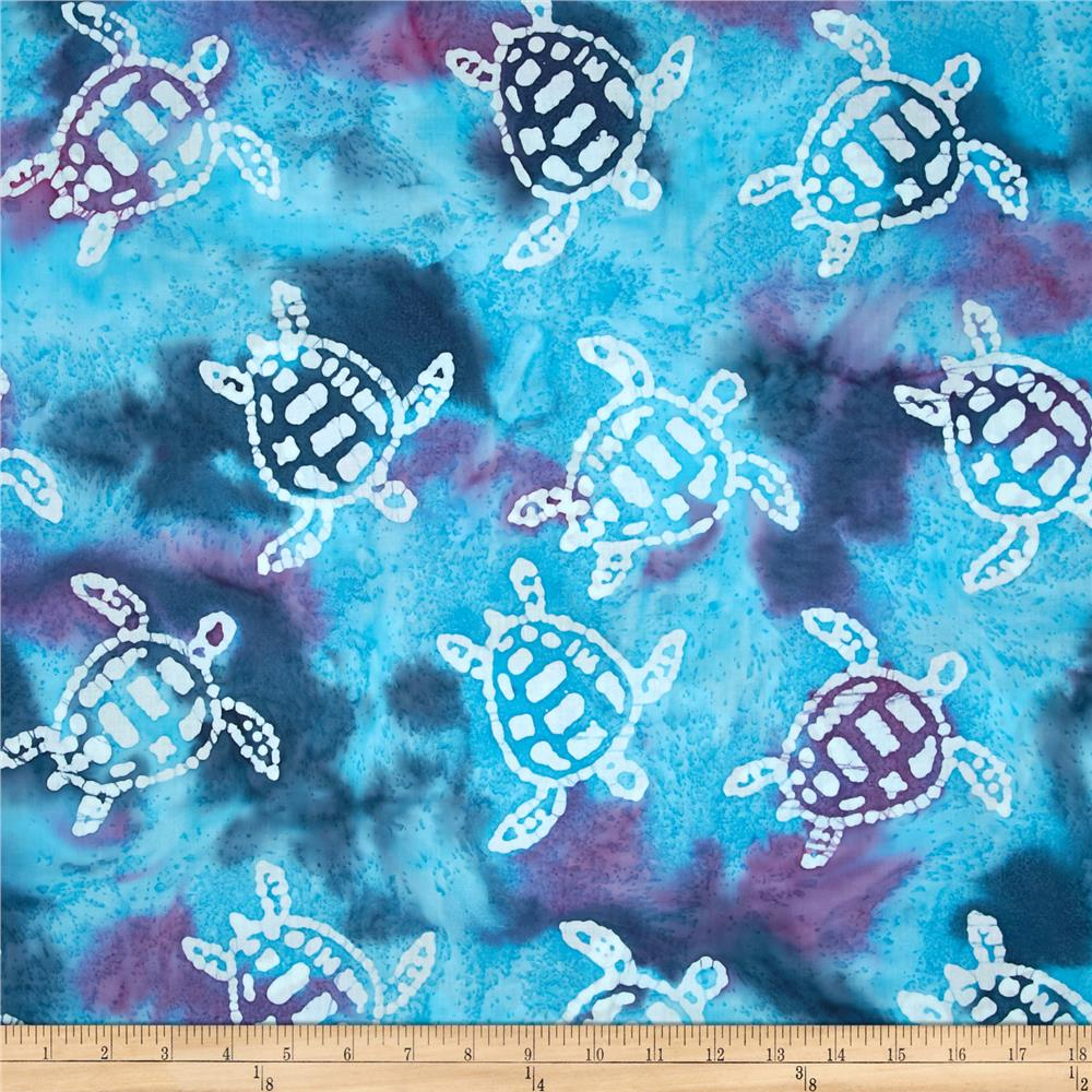Indian Batik Sandy Hook Turtle Blue/Purple