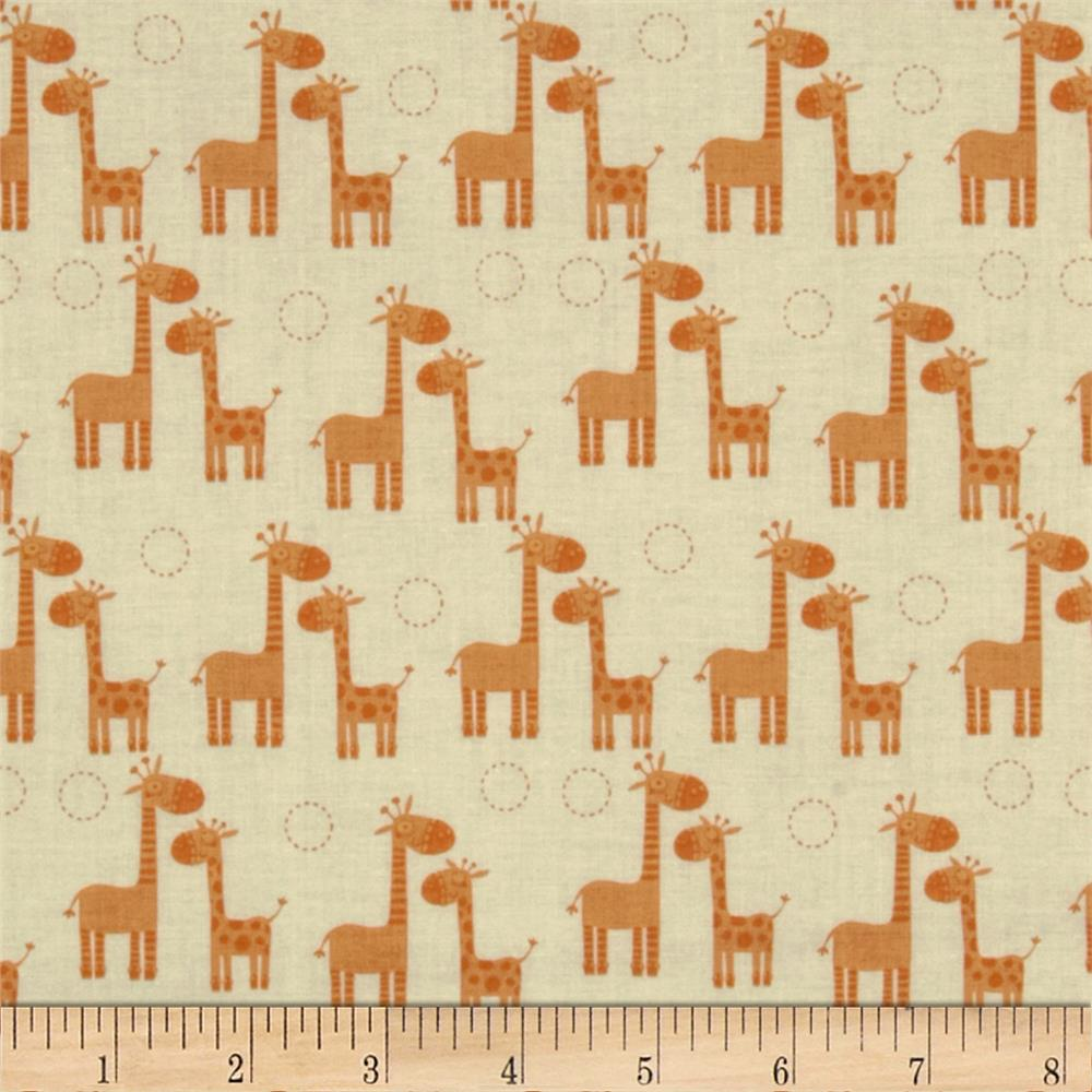 Riley Blake Giraffe Crossing Giraffe Giraffe Orange