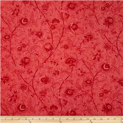 "Moda Printemps 108"" Quilt Back Paris Garden Scarlet"