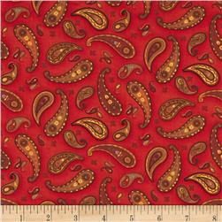 Round Up Tossed Paisley Red Multi