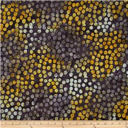 Timeless Treasures Tonga Batik Honeybee Large Dots Honeybee