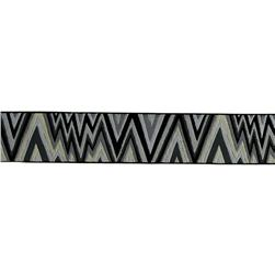 1 1/2'' Kaffe Fasset Flame Stitch Ribbon Black/White