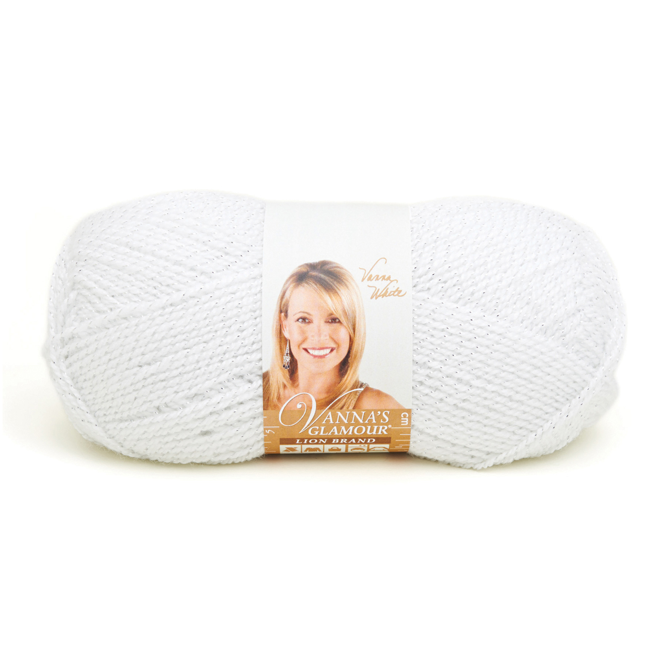 Lion Brand Vanna's Glamour Yarn (100) Diamond