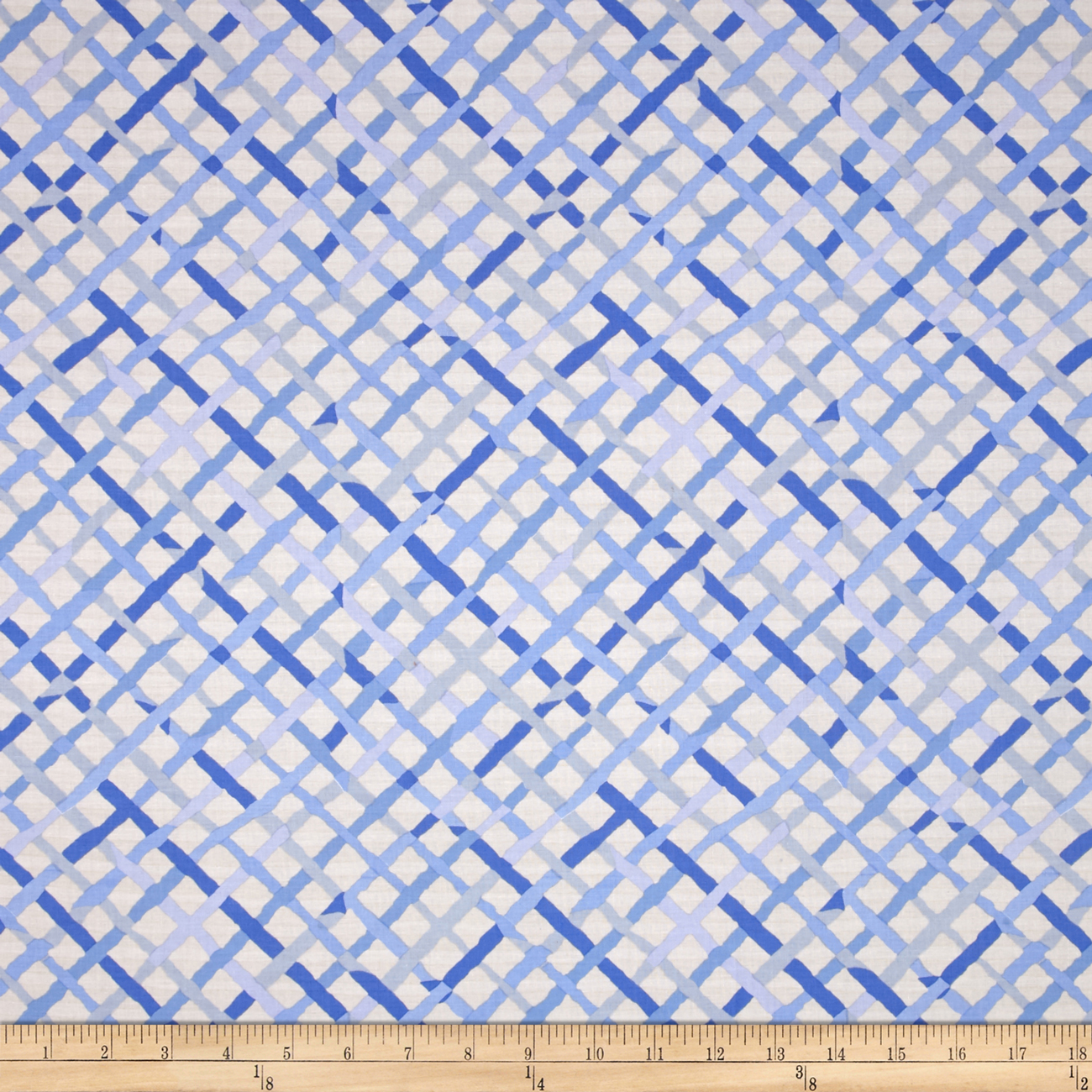 Kaffe Fassett Collective Mad Plaid Blue Fabric by Westminster in USA