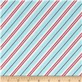 Michael Miller All the Trimmings Candy Cane Stripe Winter