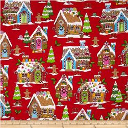 Kanvas Winter Novelty Gingerbread House Red