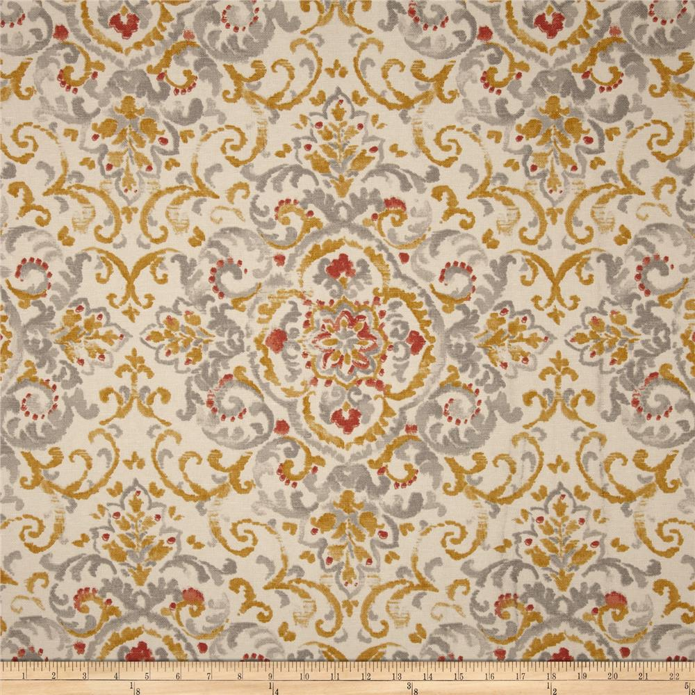 Duralee home quentin damask platinum discount designer for Wallpaper home fabrics