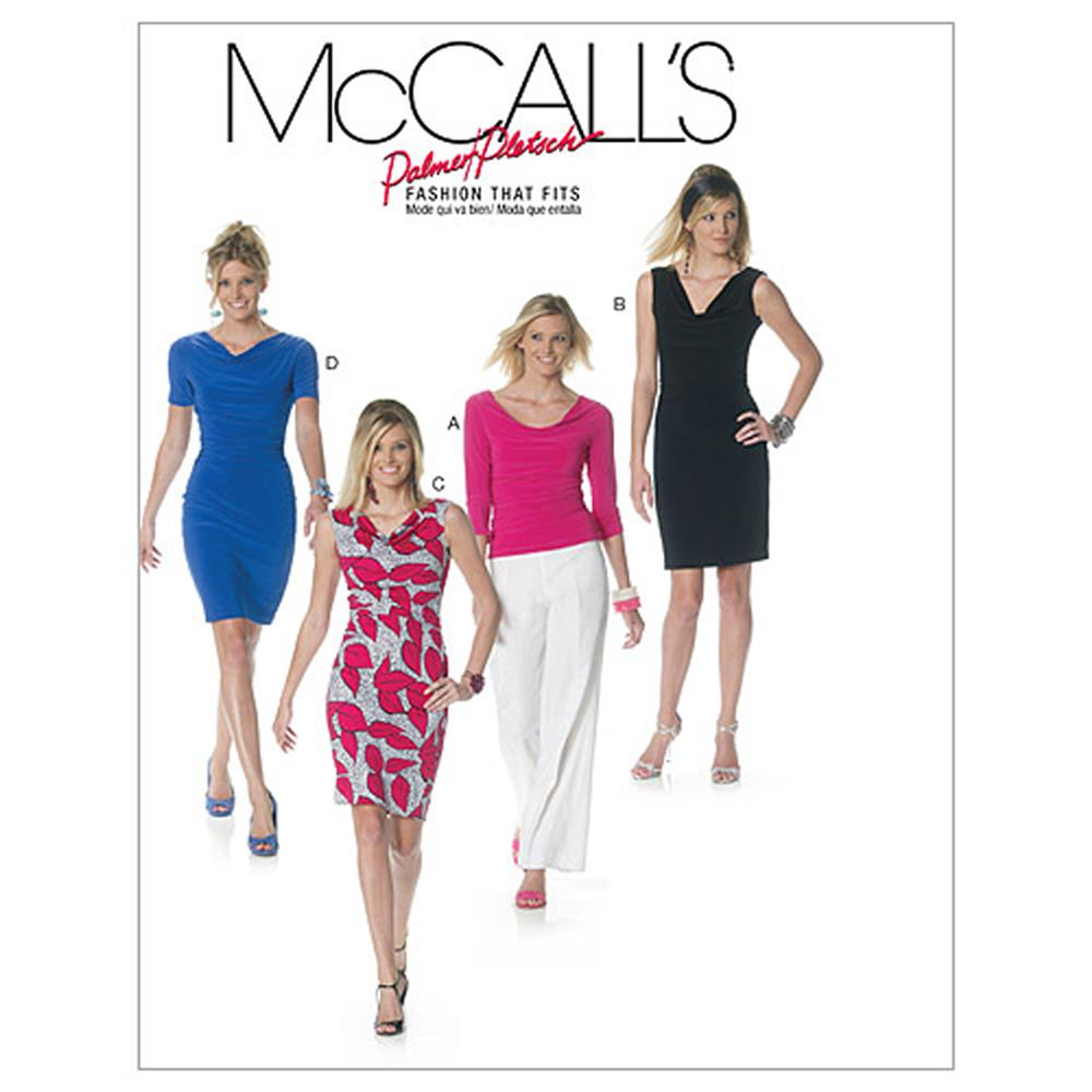McCall's Misses' Lined Top and Dresses Pattern M6282 Size BB0