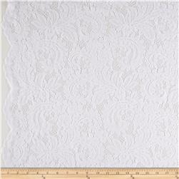 Amelia Stretch Lace White
