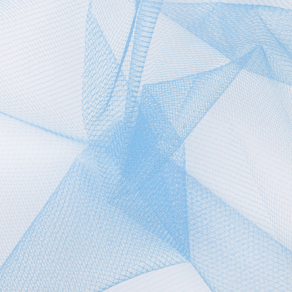 54'' Diamond Net Cotillion Blue Fabric