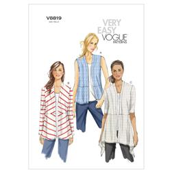 Vogue Misses' Cardigan Pattern V8819 Size 0Y0