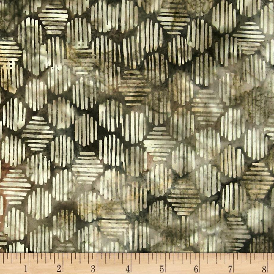 Bali Batiks Handpaint Striped Hexagon Rocky