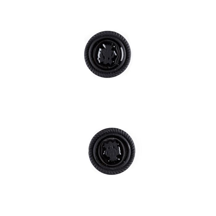 "Metal Button 5/8"" Royal Crest Black"