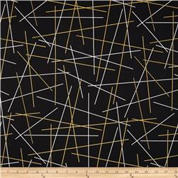 Bold & Gold Metallic Pick Up Sticks Black