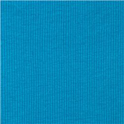 Basic Cotton Baby Rib Knit Solid Turquoise