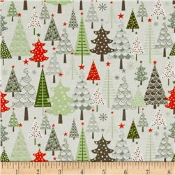 Riley Blake A Merry Little Christmas Merry Trees Taupe