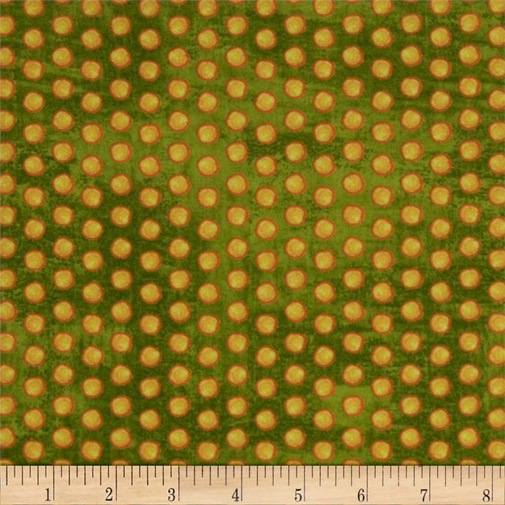 Marmalade Cottage Dots Green
