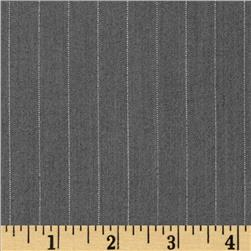 Bi-Stretch Suiting Metallic Pin Stripe Grey
