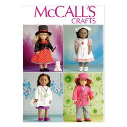 "McCall's Clothes For 18"" Doll Pattern M7031 Size OSZ"