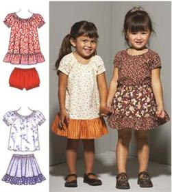 Kwik Sew Toddlers' Dress Top Skirt & Bloomers