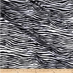 Tricot Zebra Black/White