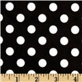Minky Cuddle Minnie Dots Black/White