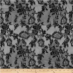 Stretch Floral Lace Black
