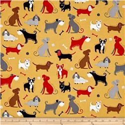 Kaufman Classy Canines Dogs and Bones Vintage