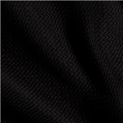 Liver Pool Double Knit Embossed Interlock Black