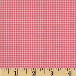 Michael Miller Mini Mikes Tiny Gingham Blossom Coral