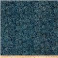 Wilmington Batiks Spinning Circles Dark Blue