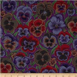 Kaffe Fassett Pansies Purple