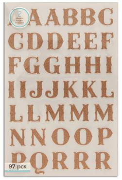 Martha Stewart Crafts Stickers Glitter Alphabet Copper