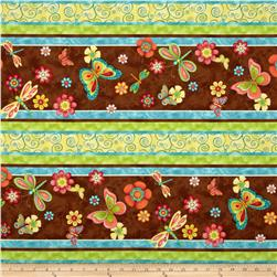 Happy Blooms Repeating Stripe Multi