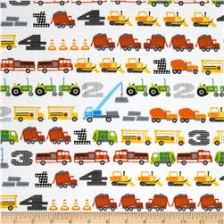 Trucks & Tractors In a Row Primary