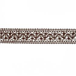 1 1/2'' Crochet Trim Brown