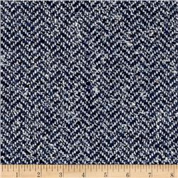 Clarence House Maxwell Tweed Dark Blue