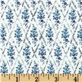 Liberty of London Saville Poplin Hilary White/Blue