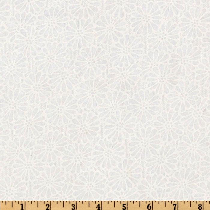 "110"" Wide Quilt Backing Daisy White"