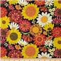 Breezy Blooms Black/Multi