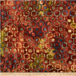 Indian Batik Tribal Circles Brown