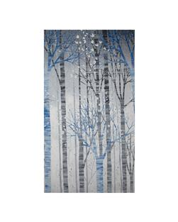 Kaufman Sounds of the Woods Metallic Scenic Stripe Winter