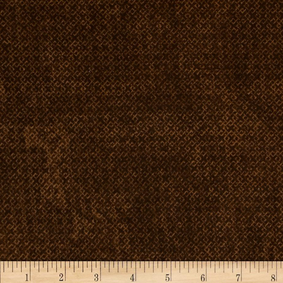 Essentials Flannel Criss Cross Brown Fabric