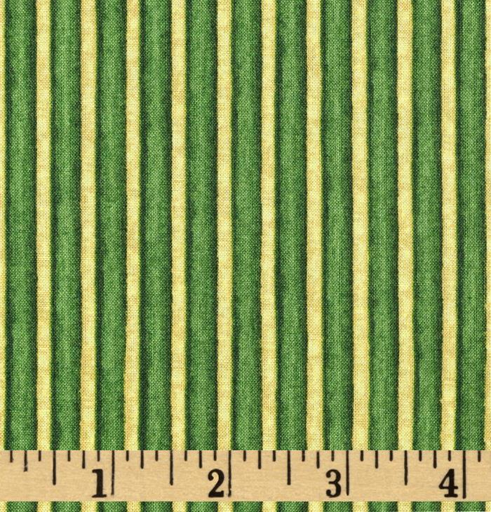 Christmas In Bloom Stripe Green/Gold