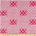 Geometric Crochet Lace Diamond Fuschia