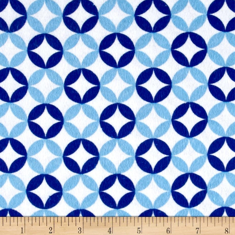 Flannel Floral Mosaic Blue/Navy