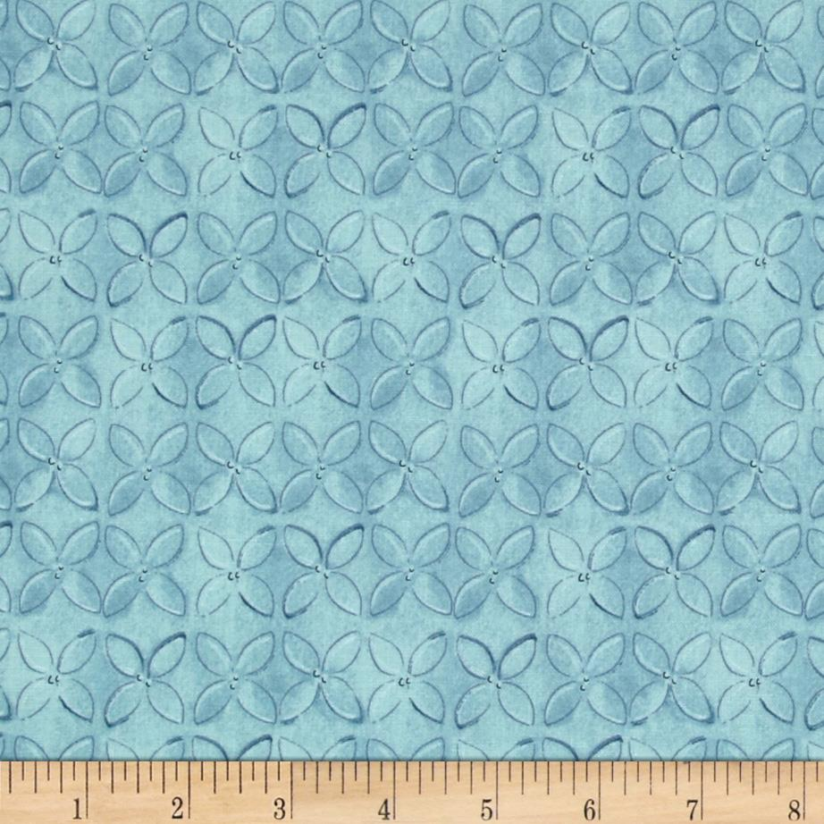Wild Things Geometric Flower Blue