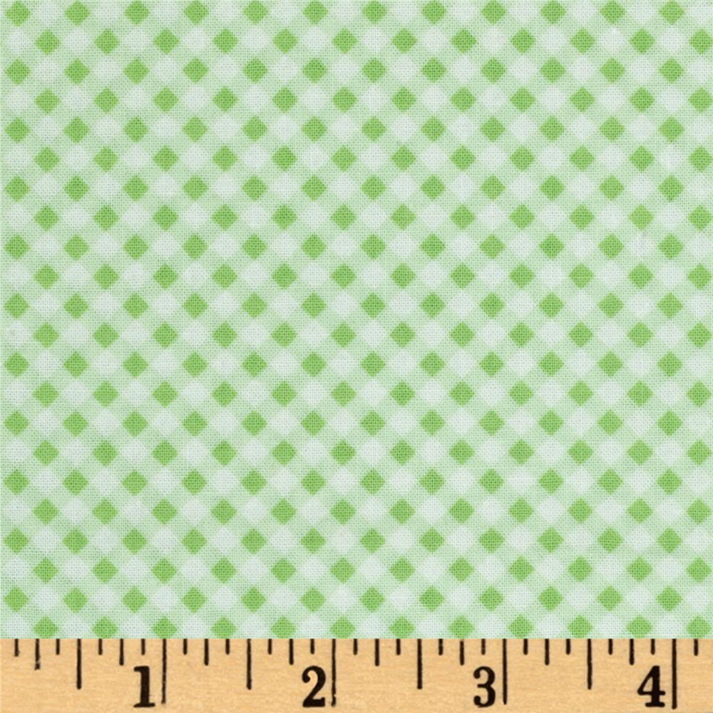 First Blush Gingham Lime