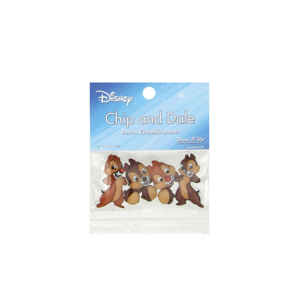 Dress It Up Disney Chip and Dale Button