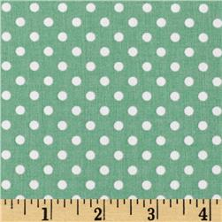Aunt Grace Dots Green